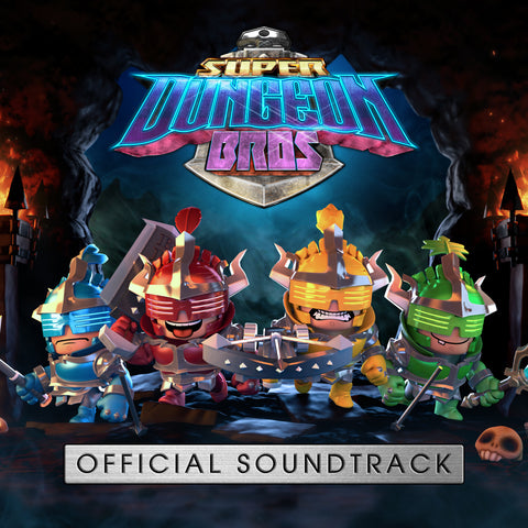 Key art for the soundtrack image of Super Dungeon Bros
