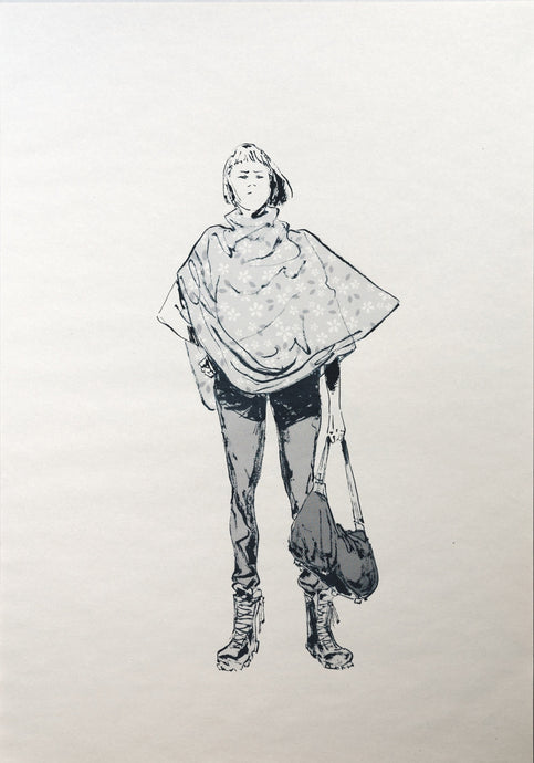 Girl with bag