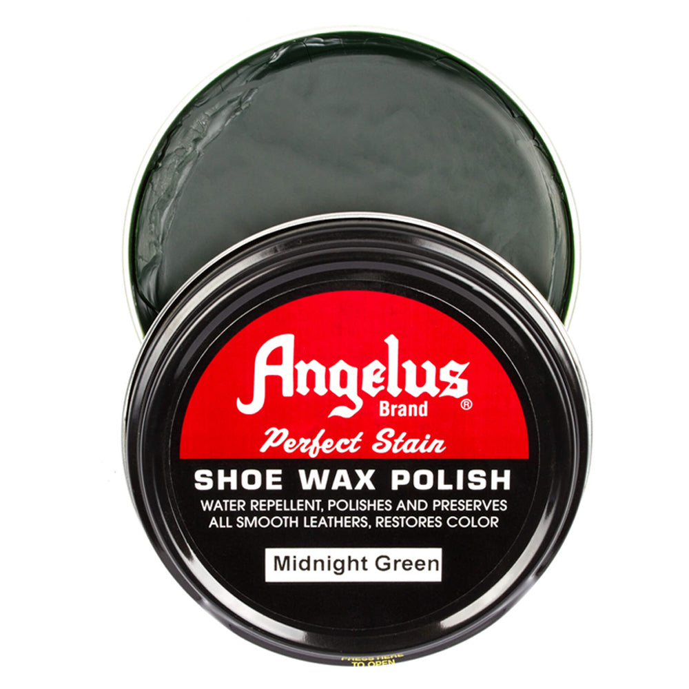 Angelus Perfect Stain Wax Shoe Polish - Midnight Green