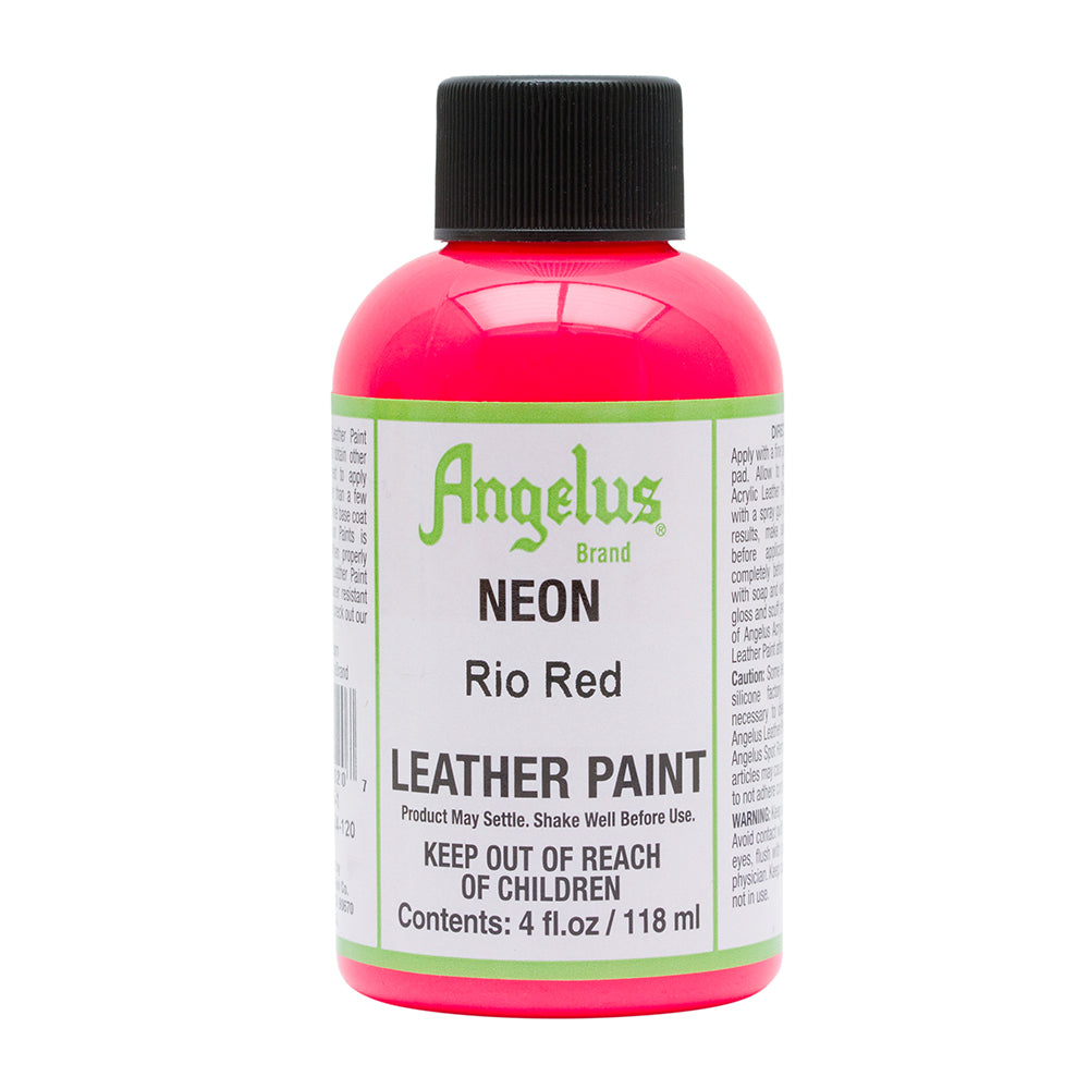 Angelus Neon Rio Red Leather Paint 084