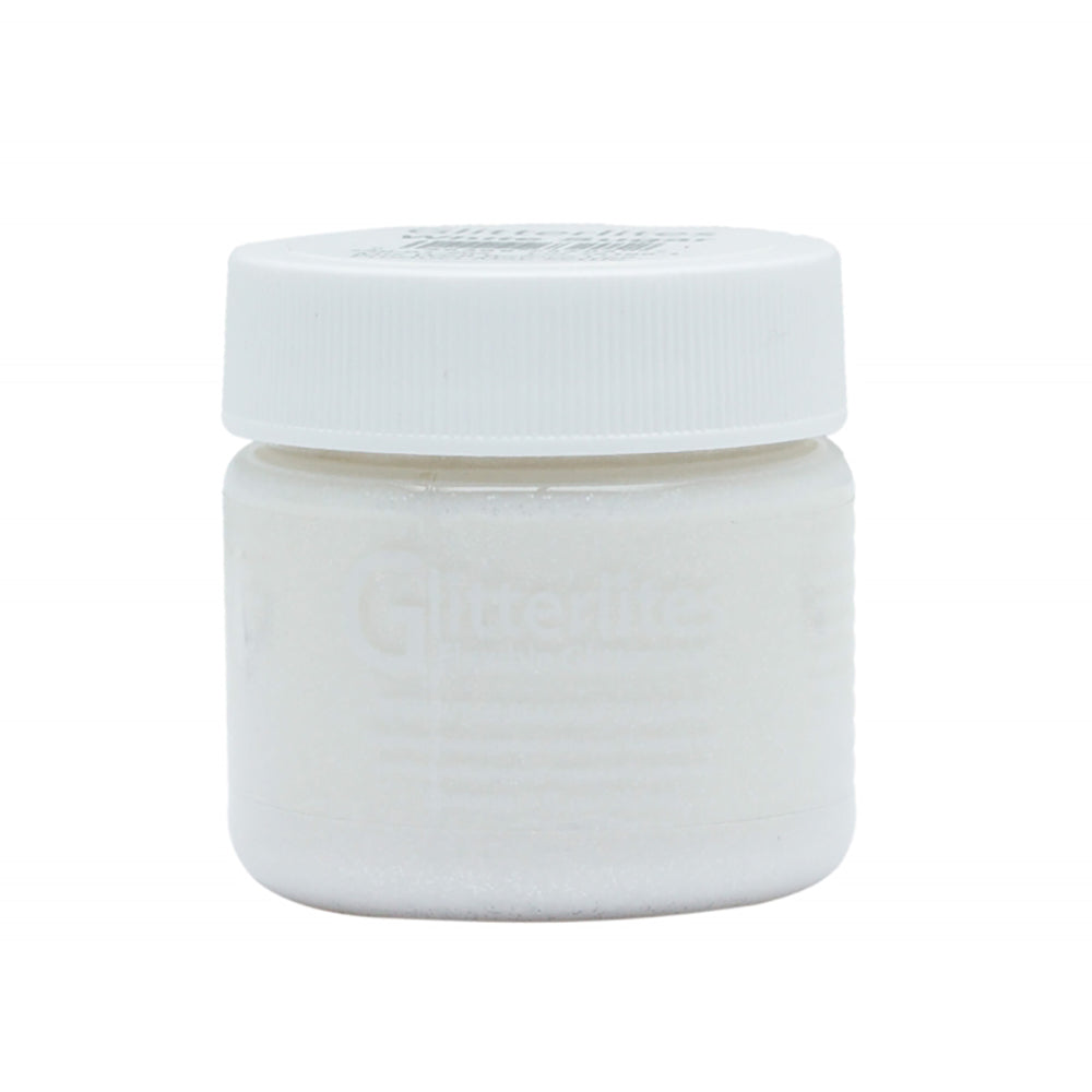 Angelus Glitter Leather Paint - White Sugar 131