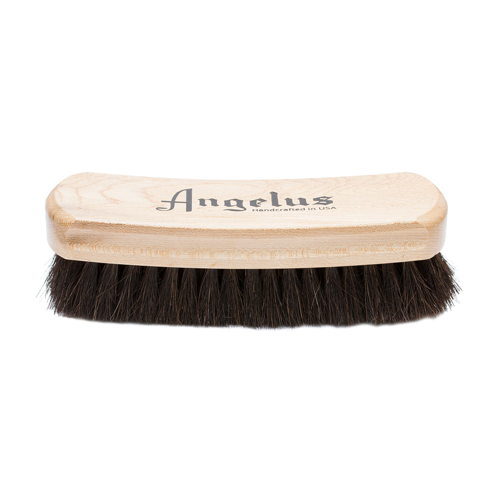 "Angelus Horsehair 6 3/4"" Rocker Shoe Polishing Brush"