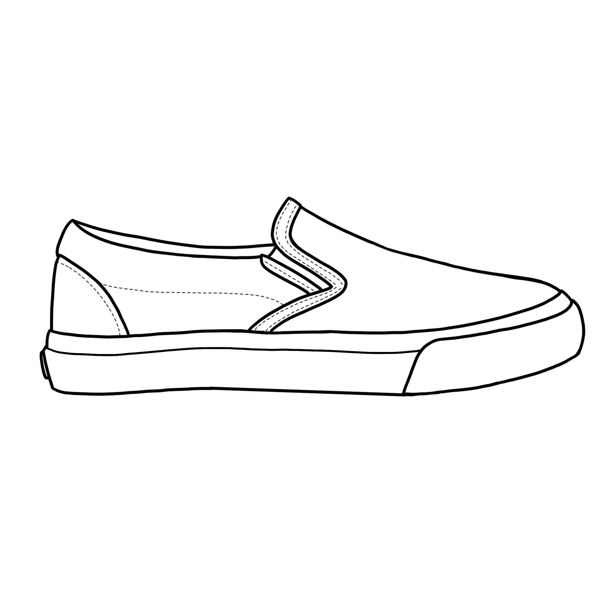 Blank Canvas - White Slip-on Kids Size (36-38)