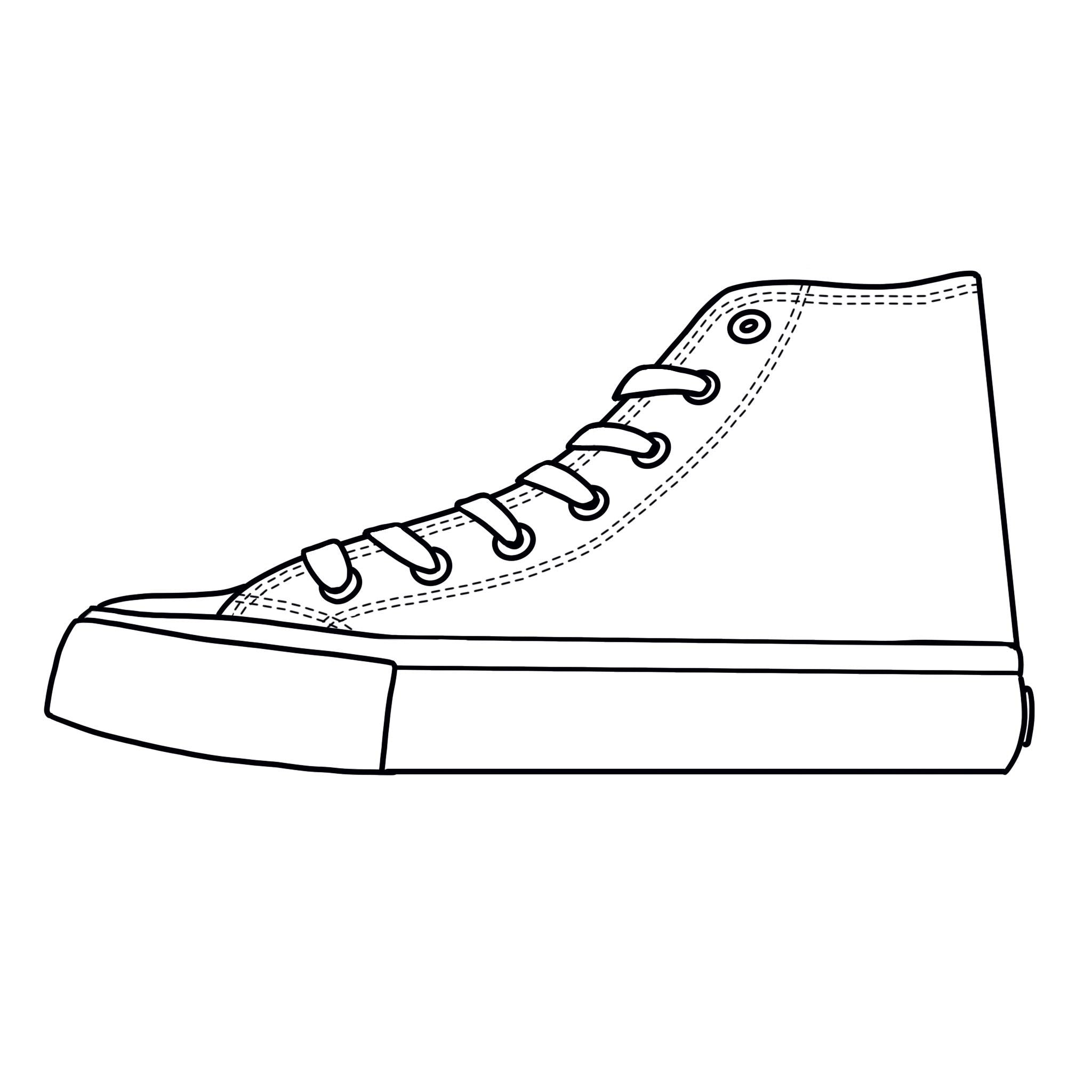 Blank Canvas - White High Tops Shoes Kids Size (18-38)