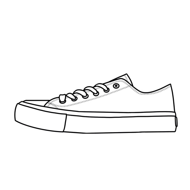 Blank Canvas - White Low Tops Shoes Kids Sizes (18-38)