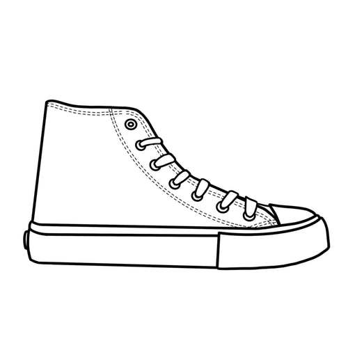 Blank Canvas - White High Tops Shoes Adult Size (39-46)
