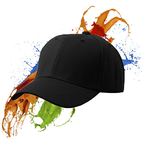 Blank Canvas - Black Peaked Cap