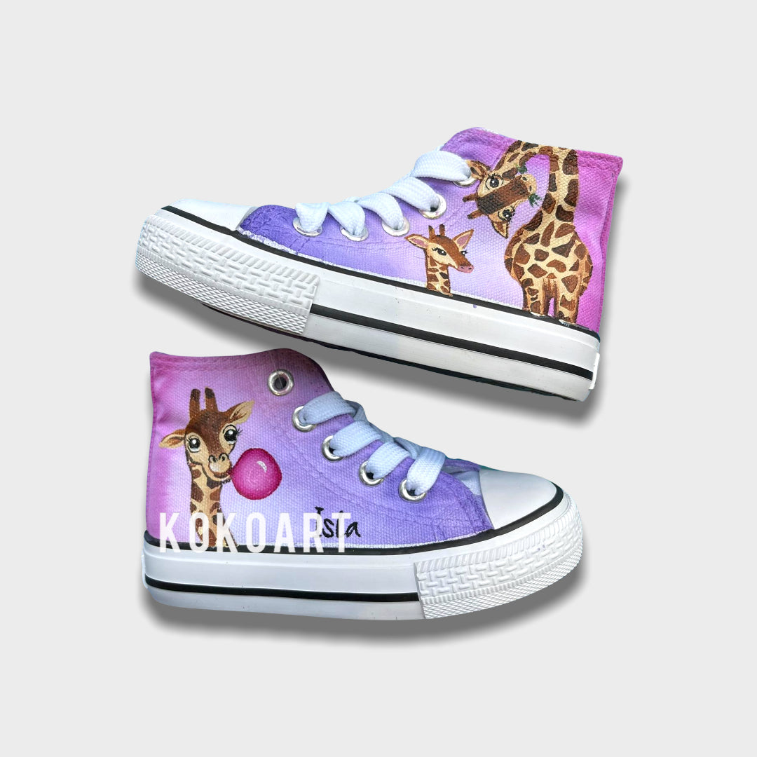 Pink Giraffes - Kids - Shoes
