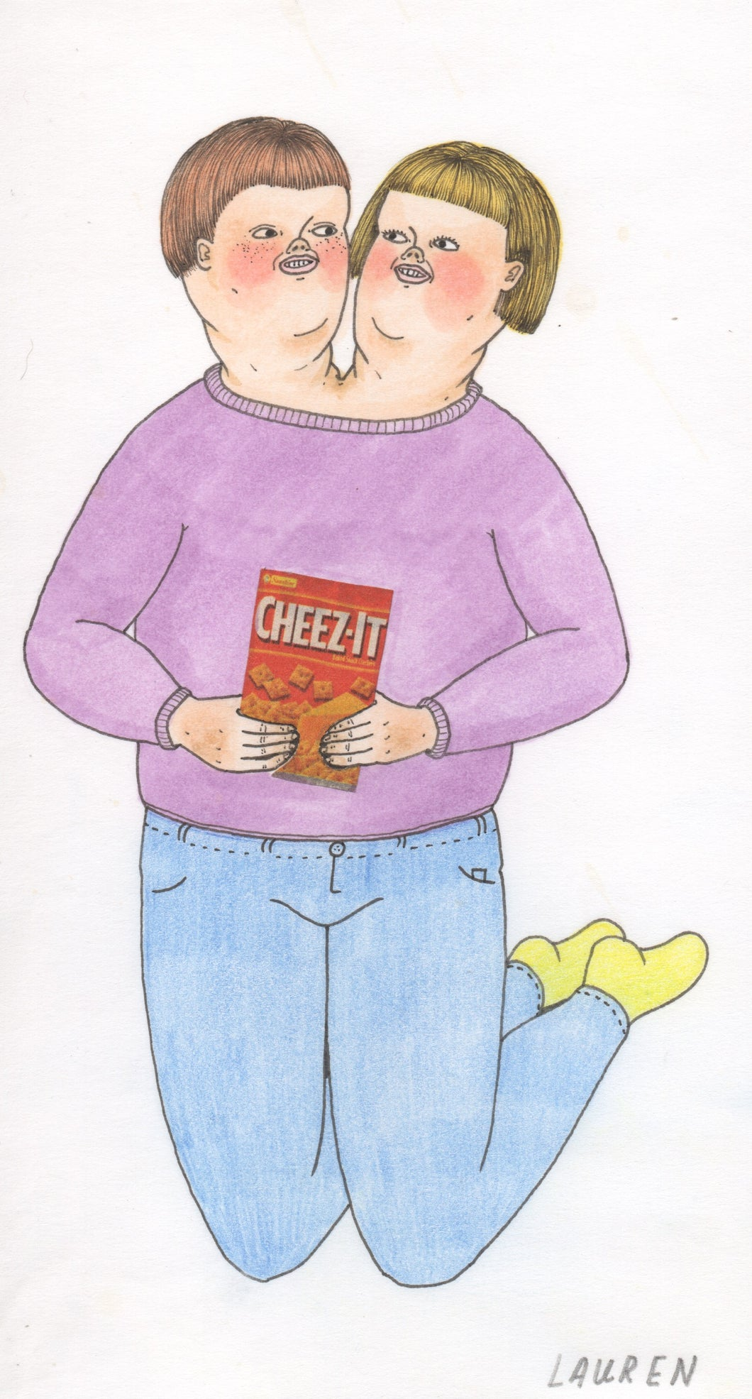 'cheez-it twins' drawing