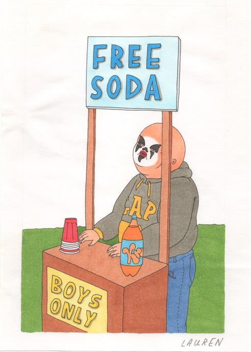 'free soda' drawing
