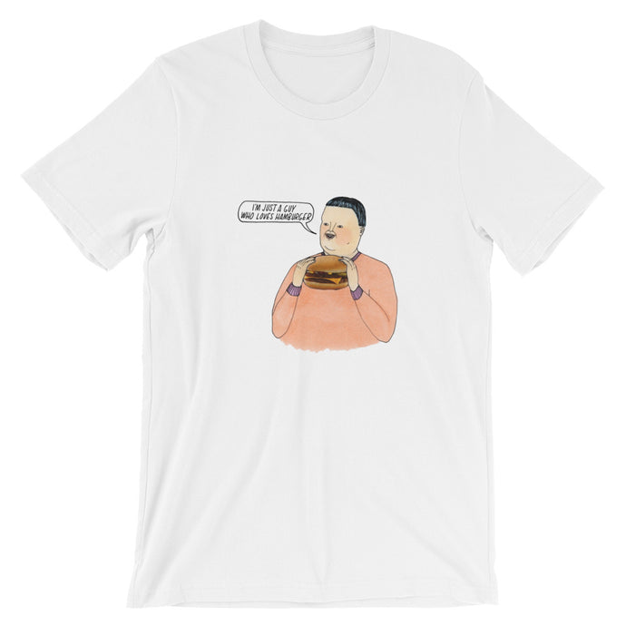 'hamburger guy' soft jersey t-shirt