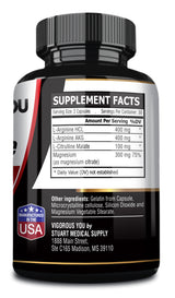 Premium L-Arginine Nitric Oxide Citrulline - 1,200 MG. Promotes Blood Flow, Aides Muscle Growth, Strength, and Endurance.