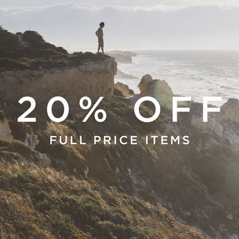 Sign up to the newsletter to receive 20% off full price items