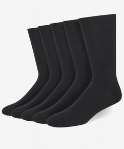 BLACK(A) COTTON BLEND SOCKS (5 PAIR PER PACK)