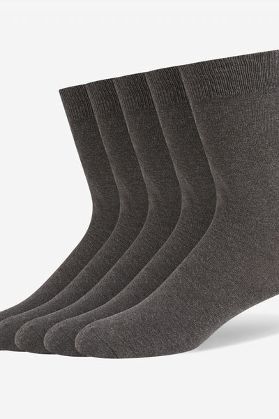 CHARCOAL(CX) COTTON BLEND SOCKS (5 PAIR PER PACK)