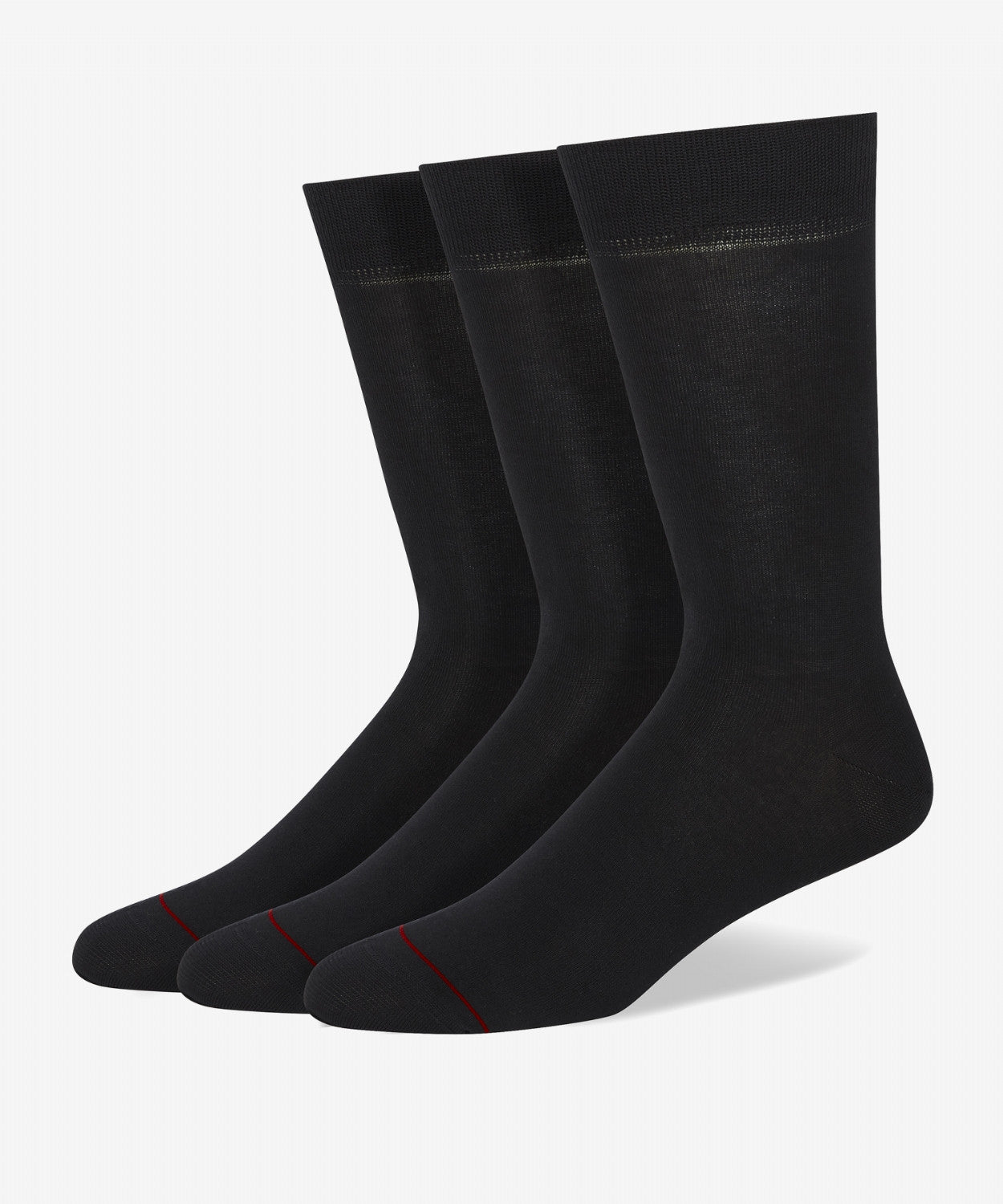 BLACK CLASSIC MERCERIZED COTTON SOCKS (TRIPLE PACK)