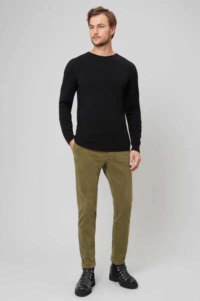 Black Wool & Cashmere Seamless Sweater