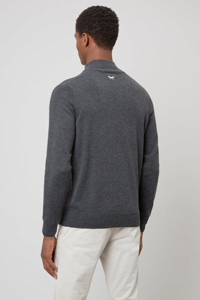 Charcoal Merino 1/4 Zip Sweater