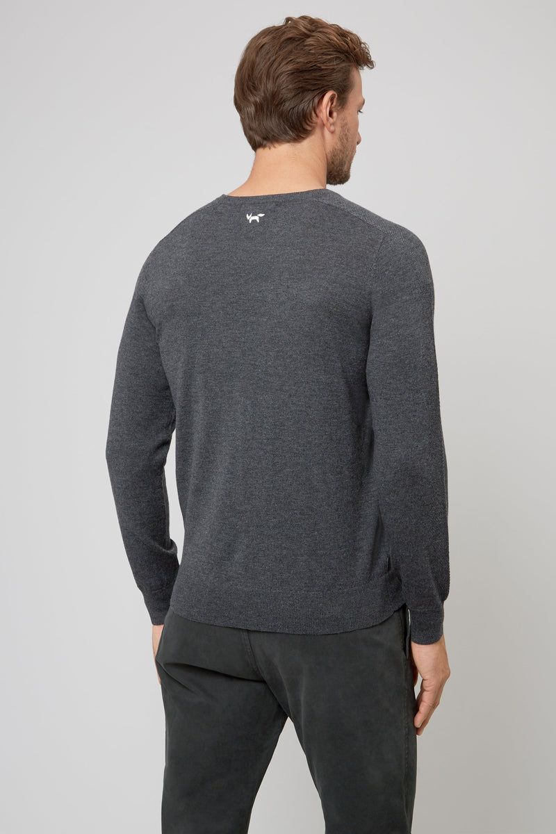 CHARCOAL MERINO SWEATER