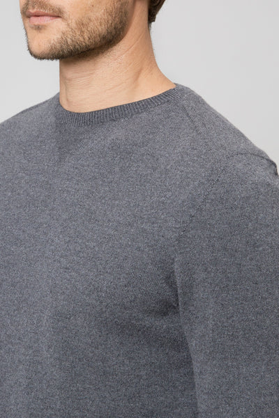 Charcoal Wool & Cashmere Seamless Sweater