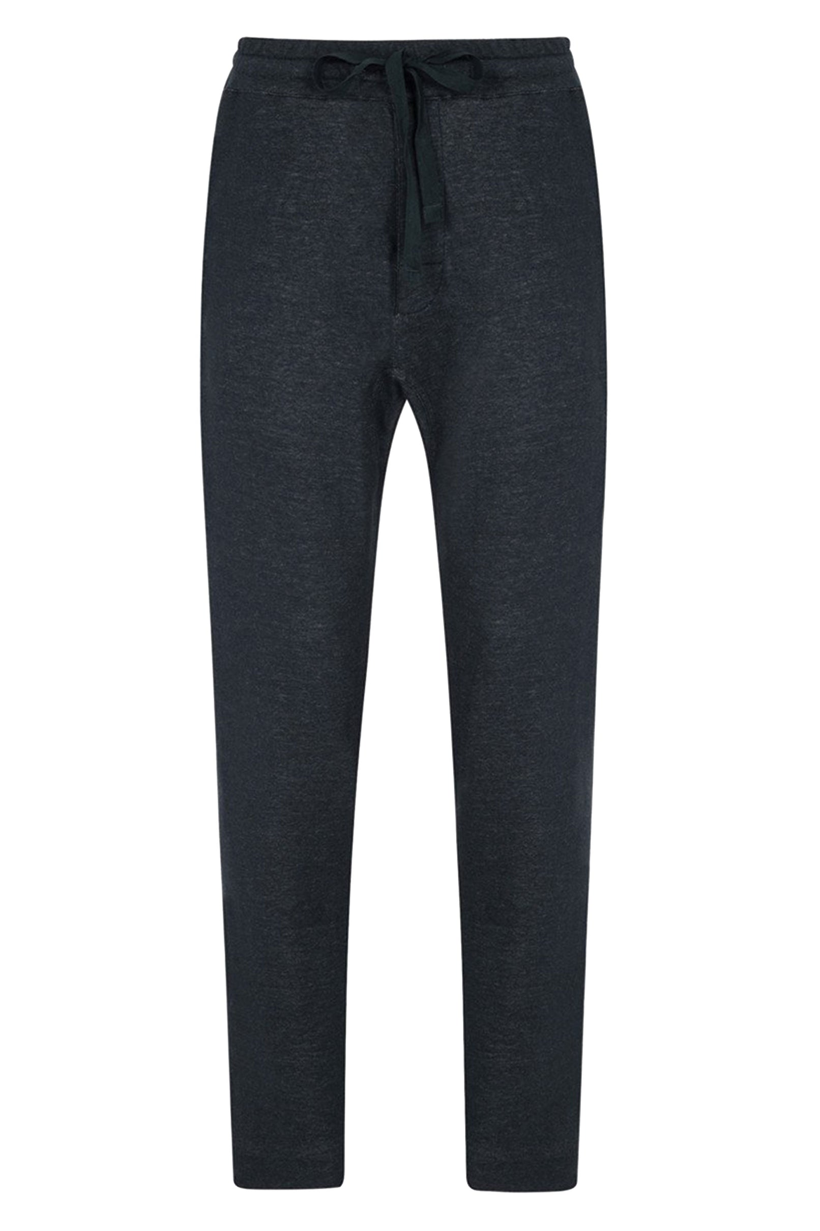 Navy Fine Wool Blend Lounge Pant