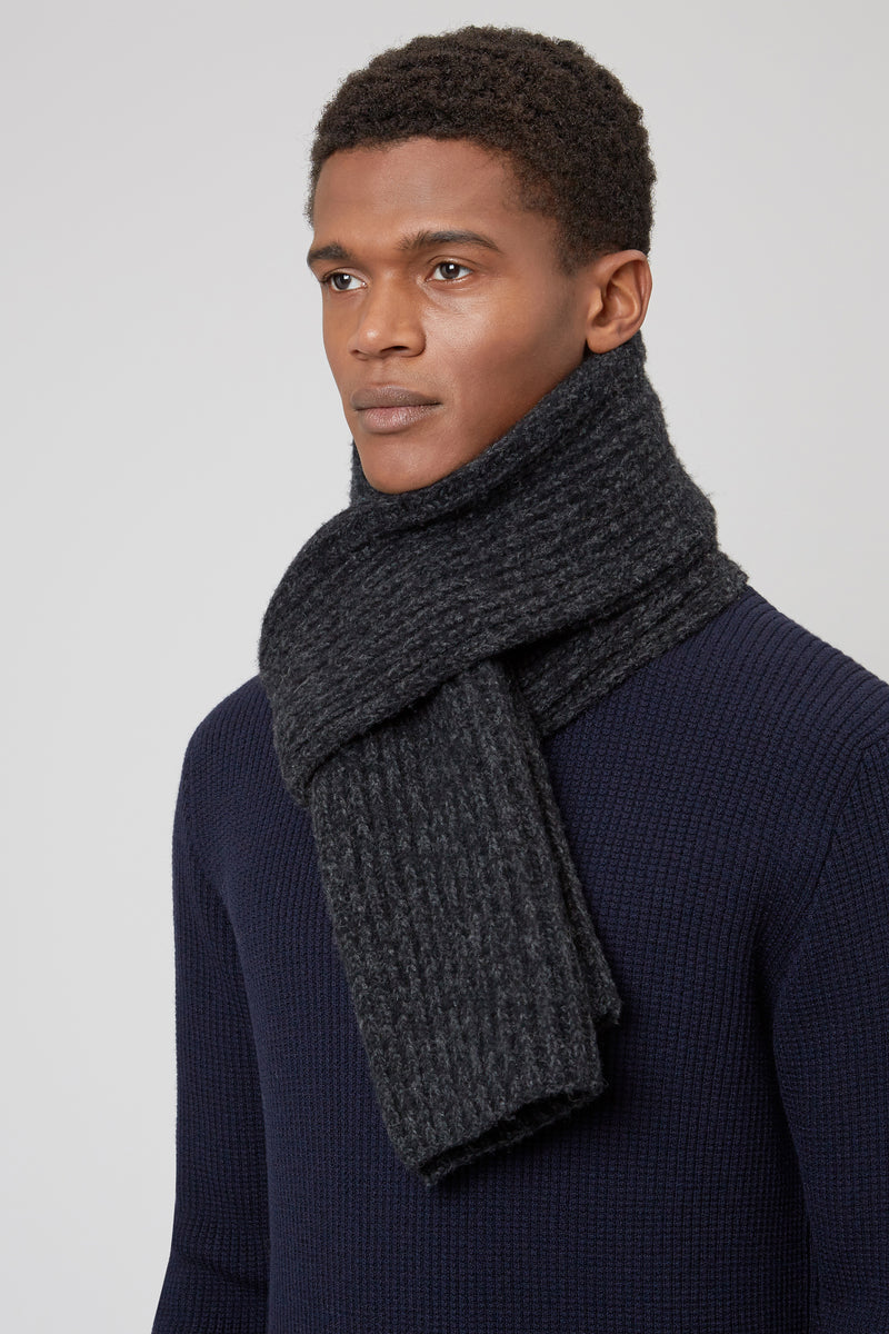 Black/Charcoal Lambswool Scarf