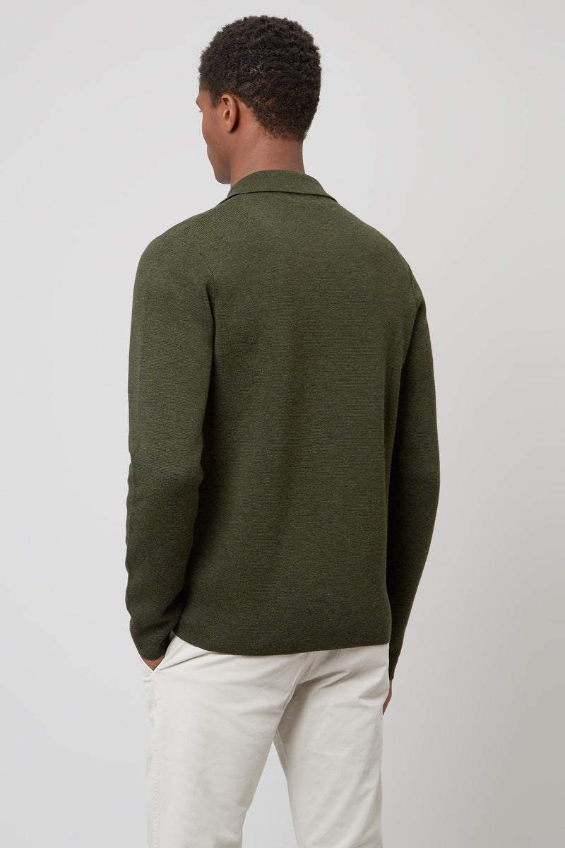 Military Knit Overshirt