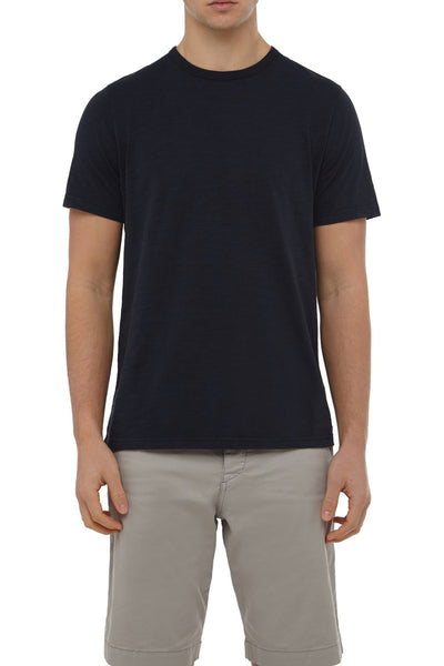 Navy Cotton Slub Tee