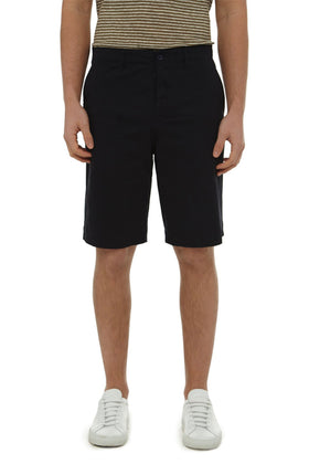Navy Garment Dyed Stretch Twill Short