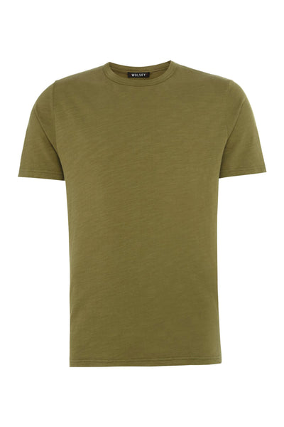 Light Olive Cotton Slub Tee