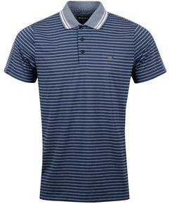 TOTAL ECLIPSE STRIPE SPLIT POLO