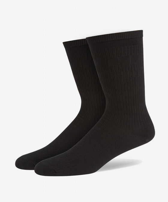 BLACK SOFT GRIP COTTON SOCKS