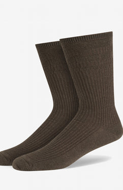 BROWN SOFT GRIP COTTON SOCKS