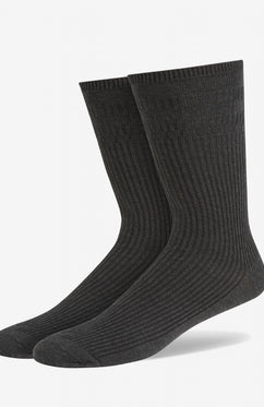 CHARCOAL SOFT GRIP COTTON SOCKS