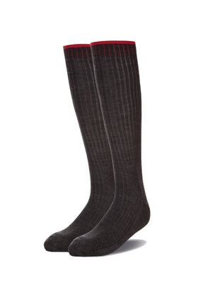 Charcoal Grip Top Long Sock