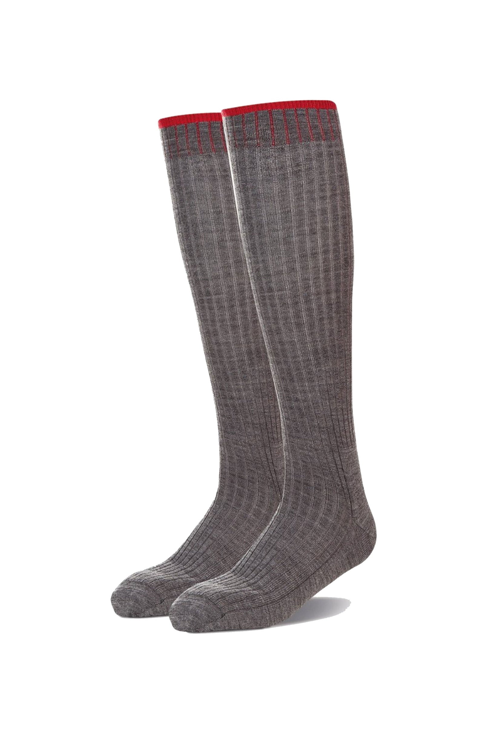 Grey Grip Top Long Sock