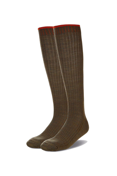 Rustic Grip Top Long Sock