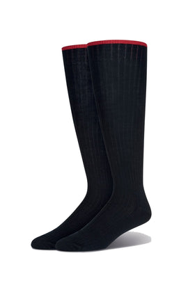 Black Grip Top Long Sock