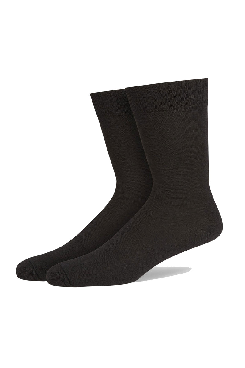 Black Fine Gauge Fine Flat Knit Sock