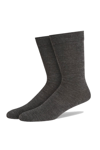 Charcoal Fine Gauge Fine Flat Knit Sock