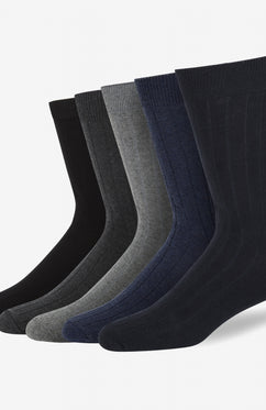 CITY 5 PACK COTTON RIB SOCKS