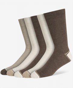 NEUTRAL 5 PACK TONAL HEEL AND TOE SOCKS