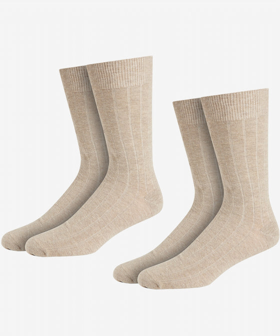 STONE COTTON RICH RIB SOCK [TWIN PACK]