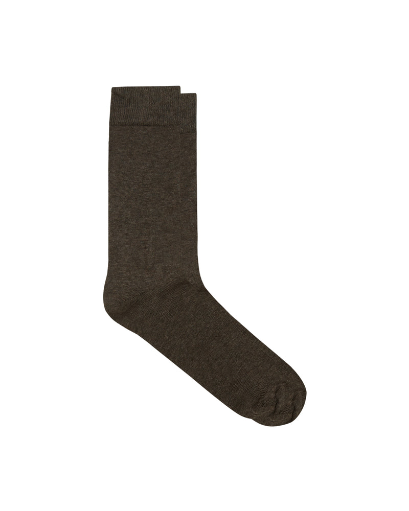 Brown Cotton Rich Flat Knit Sock Twin Pack