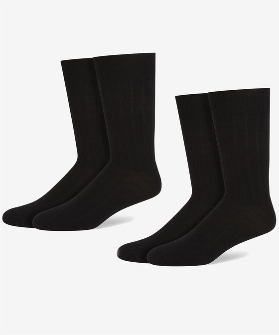 BLACK WOOL RICK RIB SOCK