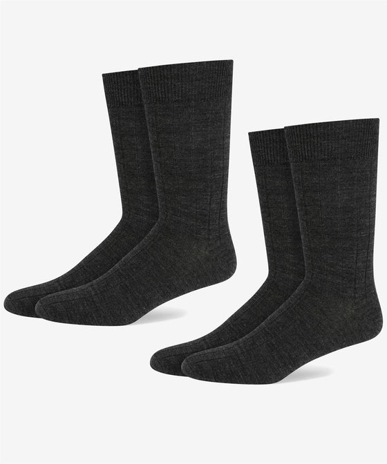 CHARCOAL WOOL RICK RIB SOCK