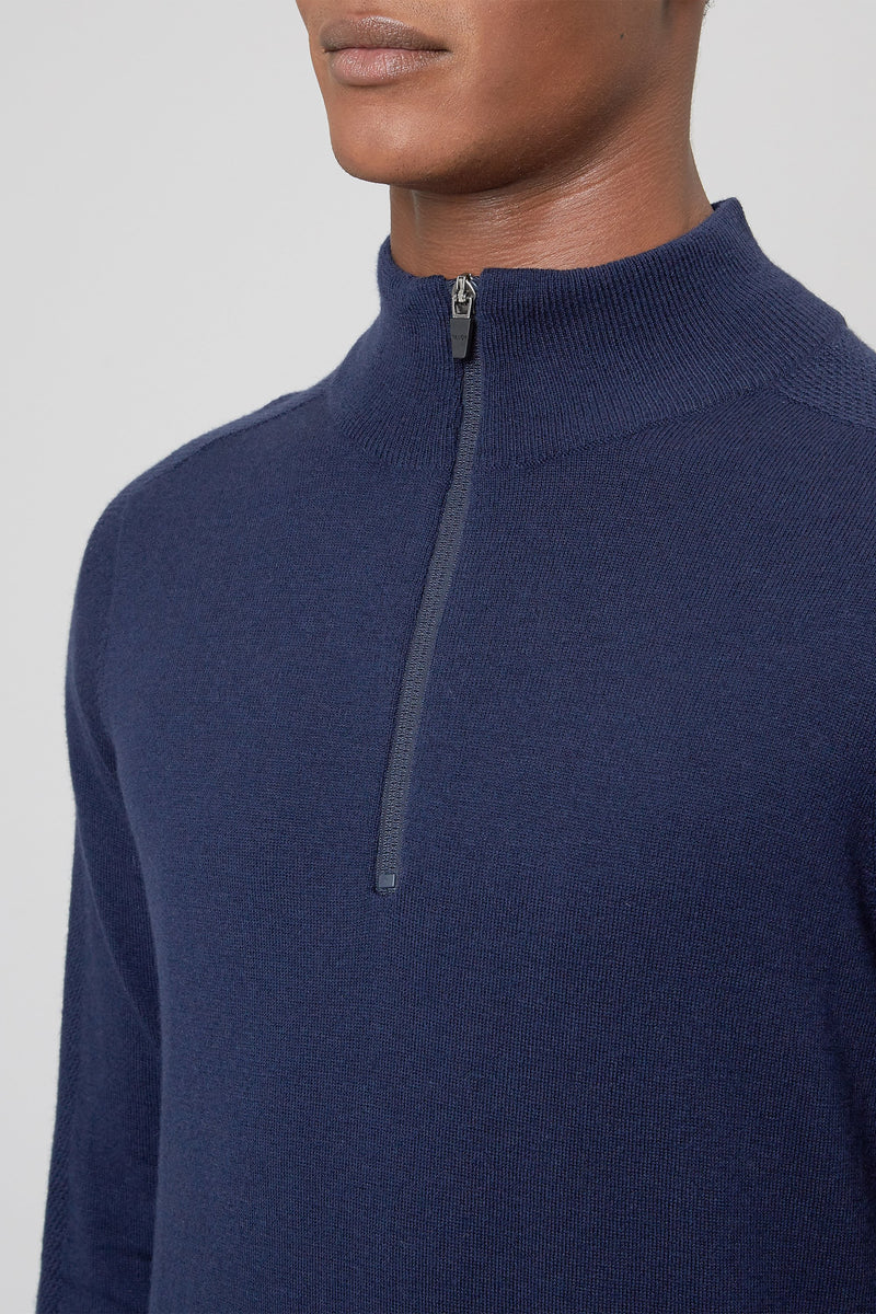 Total Eclipse Merino 1/4 Zip Sweater