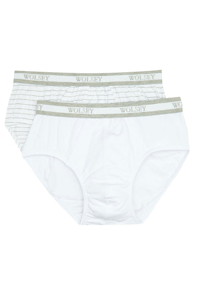 White 2 Pack Briefs