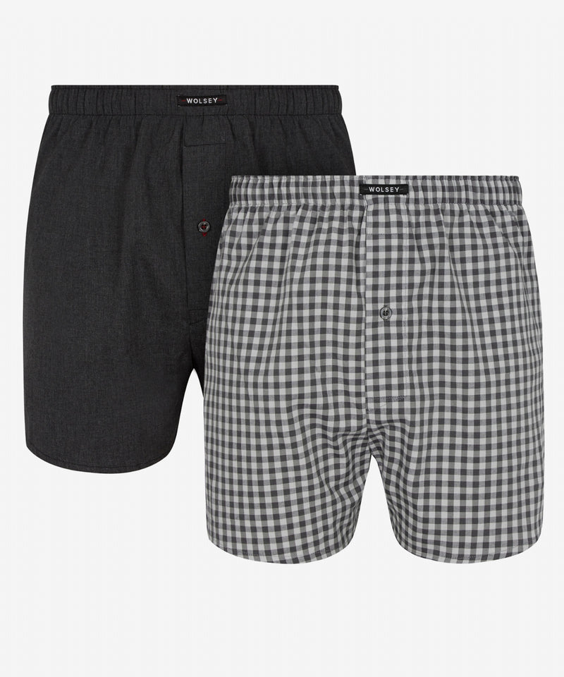 2 PACK WOVEN BOXER ASSORTED MIX