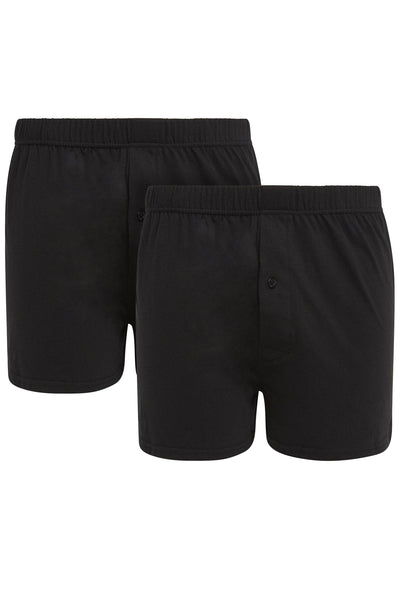 Black Jersey Boxer Short [Twin Pack]